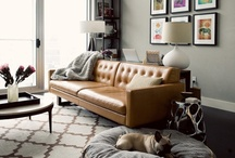 Leather is in the house / Home decor inspiration -★- Leather stuff...