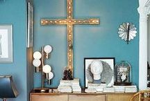 Blue is in the house / Home decor inspiration -★- Blue stuff...