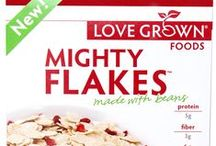 Mighty Flakes / Mighty Flakes are the first flaked cereals that are wheat-free and corn-free! Made with navy beans, garbanzo beans, and lentils, Mighty Flakes are a powerfully nutritious cereal and a great way to start your day! / by Love Grown Foods