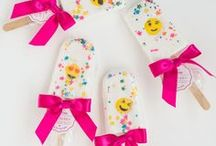 Colorful Parties / Celebrate a birthday party in style with tons of color and adorable bath products as gifts!