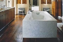 bath / Bathroom decor inspiration and just bathrooms that I'd love to spend time in. Bathroom tile, light fixtures, vanities, tubs, showers, all of it.