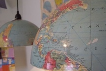New uses for maps & globes / Creative new uses for old maps -- outdated maps, globes, vintage maps, etc. / by Unconsumption