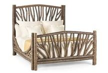 Rustic Beds - by La Lune Collection / Since 1978 La Lune Collection has created the finest rustic furniture for commercial and residential installations, with over 600 designs of seating, cabinets, tables, beds, and accessories. Check out these rustic beds from the collection!