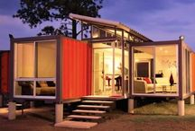 Container Homes / Steel shipping container homes are strong, safe, eco-friendly, low cost, efficient, and versatile. I will most definitely own one or a few of these in my lifetime :)