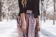 holiday style / outfit inspiration for Thanksgiving dinner, the office holiday party, Christmas Day, New Year's Eve and everything in between