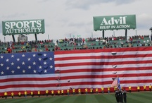 Fenway ParkTribute: Boston Marathon Tragety 4/2013 / How does one even begin to describe today at Fenway Park? Boston Strong! Hell yes! It was chilling, beautiful, emotional, filled with unity, and love! It was an amazing tribute honoring the victims, the fallen, and the hero's of the Boston Marathon tragedy, and one that will never be forgotten by those who were there to witness this day in history.  Fenway Park you nailed it! Boston Strong!