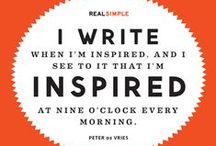 NaNoWriMo / Inspiration for your 30 days of literary abandon!