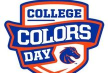 College Colors Day @ Boise State / Boise State University is participating in the second annual College Colors Day spirit competition and is asking for fan support to help win the national Spirit Cup award, which includes $10,000 toward the general scholarship fund.   By visiting facebook.com/collegecolorsday, BRONCO fans can register to vote for Boise State as the school with the most college spirit and loyal fan base. Visit http://news.boisestate.edu/college-colors-day/ for details and official Boise State downloads.