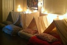 Party {Slumber/Camping} / Slumber party, indoor camping!