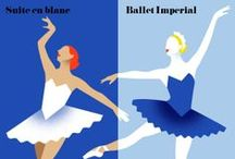 Imperial Suite / Ballet Imperial is George Balanchine's loving tribute to Russia's Mariinsky Theatre, with a side order of New York modernity. Dressed in sumptuous midnight-blue tutus, it's set to Tchaikovsky's wonderfully danceable music. Suite en blanc, meanwhile, is a quintessentially French experience: spirited, stylish, playful and romantic. Against Edouard Lalo's evocative score, this blanc et noir ballet celebrates the high style and hauteur of mid-century Paris. / by The Australian Ballet