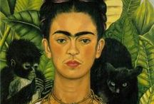 "frida kahlo....amazing frida / Frida Kahlo de Rivera; born Magdalena Carmen Frieda Kahlo y Calderón.  Born on July 6, 1907.  Died July 13, 1954 was a Mexican painter, born in Coyoacán, who is best known for her self-portraits. .... ""I paint my own reality. The only thing I know is that I paint because I need to, and I paint whatever passes through my head without any other consideration"". Frida Kahlo / by Sandi Evans"