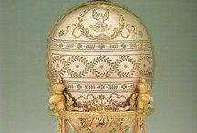 Oeufs de Nicolas / The most famous eggs produced by the House were the larger ones made for Alexander III and Nicholas II of Russia; these are often referred to as the 'Imperial' Fabergé eggs. Of the 50 made, 42 have survived. A further two eggs, the Constellation and Karelian Birch eggs, were planned for 1918 but not delivered, as Nicholas II and his family were assassinated that year, and Nicholas had abdicated the crown the year before.  Seven large eggs were made for the Kelch family of Moscow.