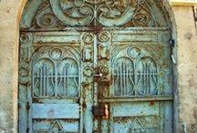 Pretty Doors/ door knob s/ door knocker s / by Sylvia Alvarado Coronado♥️ ♥️God♥️♥️