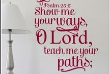 Scripture on  the. Wall