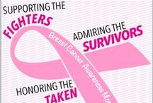 Breast Cancer Awareness / Gifts and inspirational words for the fighters and supporters in your life. Go, Fight, Cure!  <3