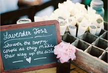 Lavender Dreams / Lavender toss signs and displays for wedding s.