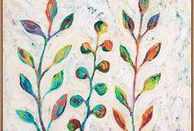 MaryLea Harris Art - Happy Little Leaves Series