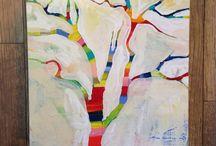 MaryLea Harris Art -  Tree Series / Trees are my spirit animal. So, I paint them. maryleaharrisart.com
