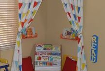 Reading nook / Ideas for creating a reading area for your child in your home
