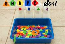 Colours and shapes / Activities to help kids learn shapes and colors