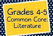 Grades 4-5 Literature, Reading, and Literacy / Products, teaching materials, freebies, ideas, anchor charts, projects, and more for teaching the Common Core Informational Text Exemplars for Grades 4-5 (or those that should be) #CCSS #fourthgrade #fifthgrade #teaching #commoncore #education #textexemplars / by Elementary Solutions