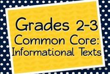 Grades 2-3 Informational Texts / Products, teaching materials, freebies, ideas, anchor charts, projects, and more for teaching the Common Core Informational Text Exemplars (or should be) for Grades 2-3 #CCSS #secondgrade #thirdgrade #teaching #commoncore #education #informational / by Elementary Solutions