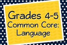 Grades 4-5 Language, Grammar, Vocabulary / by Elementary Solutions
