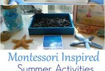 Summer activities for kids / Montessori summer activities for kids  #montessori #preschoolactivities #kidsactivities