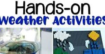 weather unit / Use these hands-on weather activities to wow your students. They will be very excited to try these experiments, use these Montessori printables, and learn about weather and the water cycle. Everything you need for the perfect unit study is here!