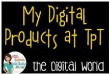 Digi by Amy / Digi by Amy TpT store:  My Frames, Backgrounds, Task Card Templates and Fonts on TpT
