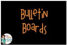 Bulletin Boards / Bulletin boards for the upper elementary/middle school classroom.