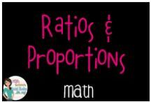 Math:  Ratios and Proportions / All thing ratios and proportions