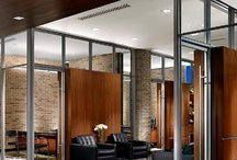 Offices / Office design and use of natural stone on floors, walls, and facade