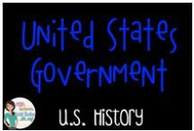 US History - Government / Everything to do with the Government of the United States