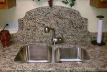 Stone Sinks & Backsplash