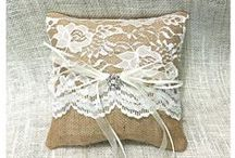 Burlap and Lace Wedding Ideas / Burlap and Lace Wedding Ideas, Burlap Ring Pillows. Burlap Flower Girl Baskets, Burlap and Lace Wedding Decorations, Burlap and Lace Wedding Decor, Rustic Wedding, Rustic Wedding Decor, Burlap and Lace Wedding Reception Decor, Burlap Banners, Burlap Table Runners, Burlap and Lace Ideas