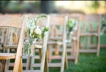 Wedding  |  Ceremony Details / wedding arches, aisle and chair decorations, arrivals, confetti, etc