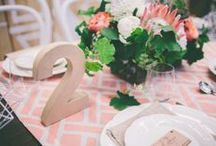 Wedding  |  Centrepieces & Table Styling