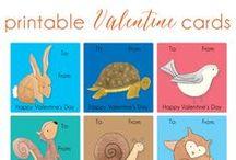 Valentine Ideas / a fun collection of Valentine crafts, free Valentine printables and fun Valentine goodies!