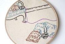 Stitched Together / Inspiring, modern embroidery, knitting, and stitched artwork.