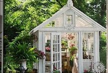 ~ Potting Shed, Pots/Containers, & Potting Table Love ~ / by Misty Dennie