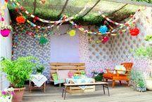 Cosy outdoor garden spaces