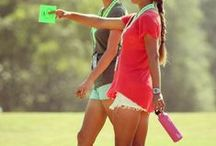 LPGA fairways and fashion / A board featuring the styles and equipment of players on the LPGA Tour and other women's golf events around the globe. / by PGA