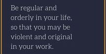 A Regular & Orderly Life