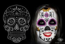 Day of the Dead / Day of the Dead is on at PicMonkey!  Check out rad day of the dead masks made of sugar skulls, face-painty eye sockets, nose holes, skull teeth, and all manner of gorgeous embellishments.