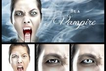 Vampires / Make yourself into a vampire with PicMonkey's Vampire photo editing effects. Add fangs, veins, blood drops, bats and moons, and a graveyard for you to chill in. Plus some seriously goth fonts. You are SO ready for your close up, Vlad. / by PicMonkey