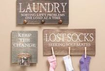 I Love Laundry... ROOMS / Doing laundry is a terrible time consuming task. I can't wait to make it pretty, functional, and maybe even fun.  / by Katelyn L