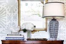 Decor Details: vignettes / accessory and art display, styling