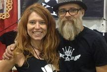 About US / Co-owners of WATTO Distinctive Metal Wear. Mary Spencer and hubby Jon WATTO Watson.