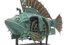 STEAMPUNK stuff / All things Steampunk from sculpture to home decor. Check out my Steamy fashion board for fashion ideas!